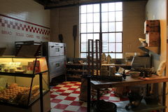 Extensive collection of bakery items begun in Maryland, exhibited in Museum of Industry, Baltimore, 2017. Extensive displays of inventions begun in Maryland royalty free stock photography