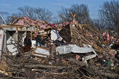 Extensive Destruction After Tornado Stock Images