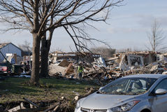Extensive Destruction After Tornado Royalty Free Stock Images