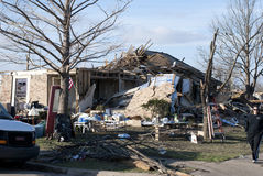 Extensive Destruction After Tornado Royalty Free Stock Photography