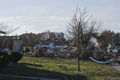 Extensive Destruction After Tornado Royalty Free Stock Photos