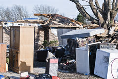Extensive Destruction After Tornado Stock Photo