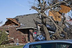 Extensive Destruction After Tornado Royalty Free Stock Image