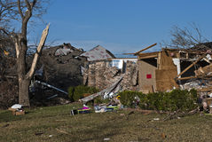 Extensive Destruction After Tornado Stock Image