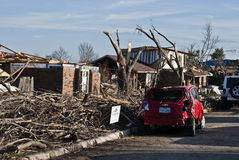 Extensive Destruction After Tornado Royalty Free Stock Photo
