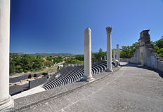 The extensive Roman ruins at Vaison-La-Romaine, Provence, France Royalty Free Stock Photos