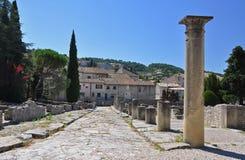 The extensive Roman ruins at Vaison-La-Romaine, Provence, France Stock Image