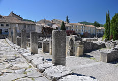The extensive Roman ruins at Vaison-La-Romaine, Provence, France Stock Photography