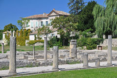 The extensive Roman ruins at Vaison-La-Romaine, Provence, France Royalty Free Stock Image