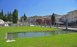 The extensive Roman ruins at Vaison-La-Romaine, Provence, France Royalty Free Stock Photography