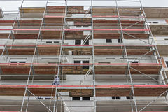 Extensive scaffolding on a building Royalty Free Stock Image