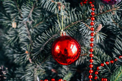 Extensive series of holiday shots with a variety of props and backgrounds. Lots of copyspace for ads. Christmas presents on wooden. Table. A couple of gifts royalty free stock images