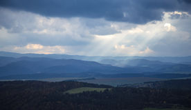 Extensive whole landscape with hills Stock Photography