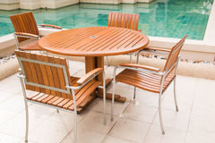 Exterio Swimming pool in the resort Stock Photos