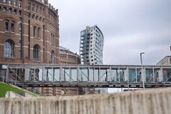 Exterioir of one of the four gasometer Royalty Free Stock Image