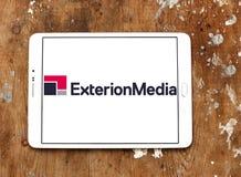 Exterion reklamowej agenci Medialny logo Fotografia Stock