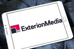 Exterion reklamowej agenci Medialny logo Obrazy Royalty Free