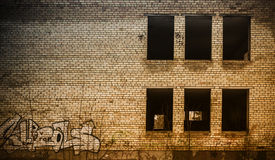 Exterior of abandoned building close up Stock Photography