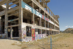 Exterior of an abandoned mill in Nevada desert Stock Images