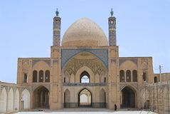 Exterior of the Agha Bozog mosque in Kashan, Iran. Royalty Free Stock Photography