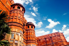 Exterior of Agra Fort , India Stock Image