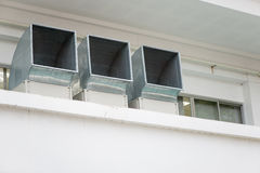 Exterior air vents for air cooling Stock Image