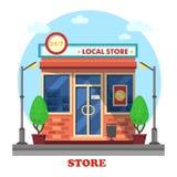 Exterior al aire libre local del edificio de la tienda o de tienda Foto de archivo libre de regalías