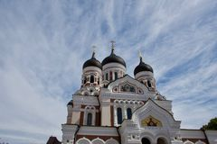 Exterior of Alexander Newski Cathedral, Tallinn. Exterior of the Alexander Newski Cathedral, Tallinn, Estonia and orthodox cathedral situated in the Old Town Royalty Free Stock Photography