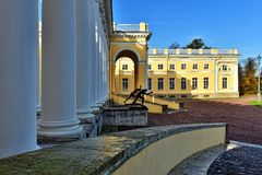 The exterior of Alexander palace in Pushkin, Stock Image
