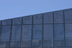 Exterior aluminium fixed louver system as building facade Manchester England royalty free stock image