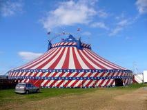 Exterior americano da tenda do circus Fotos de Stock Royalty Free