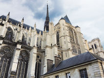 Exterior of Amiens Cathedral, France Royalty Free Stock Photo