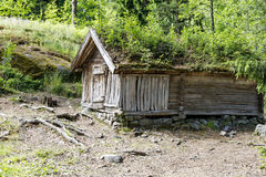 Exterior of an ancient timber made building Royalty Free Stock Image