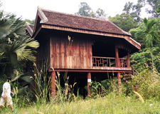 Exterior of antique Ethnic Malay house Royalty Free Stock Photo
