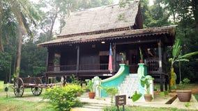 Exterior of antique Ethnic Malay house Stock Photo
