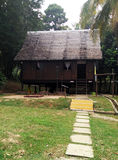 Exterior of antique Ethnic Malay house Royalty Free Stock Photos