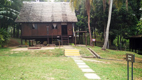 Exterior of antique Ethnic Malay house Stock Photos