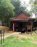 Exterior of antique Ethnic Malay Kedah house Royalty Free Stock Image