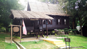 Exterior of antique Ethnic Malay Selangor house Stock Images