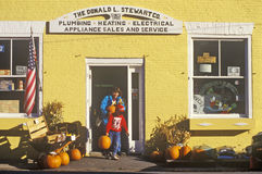 Exterior of appliance store at Halloween in Castine, ME Royalty Free Stock Photography