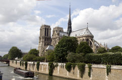 Exterior apse notre dame cathedral paris Royalty Free Stock Photography