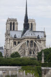 Exterior apse notre dame cathedral paris france Stock Images