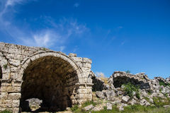 Exterior arches of the chariot racing stadium Stock Photos