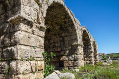 Exterior arches of the chariot racing stadium Royalty Free Stock Photo