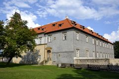 Exterior architecture of Brandys nad Labem castle Stock Photography
