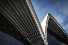 Exterior architecture detail of sydney opera house landmark in a Royalty Free Stock Photo