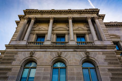 Exterior architecture at the Library of Congress, in Washington, Royalty Free Stock Images