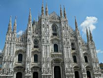 Exterior Architecture of Milano Dom, Italy. Royalty Free Stock Image