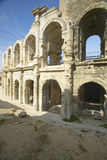 Exterior of the Arena of Arles, from ancient Roman times, can hold 24,000 spectators, Arles, France Stock Photo