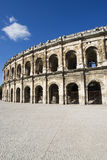 Exterior of the Arena of Nîmes, France Royalty Free Stock Image